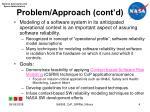 problem approach cont d
