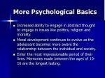 more psychological basics