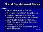 social development basics