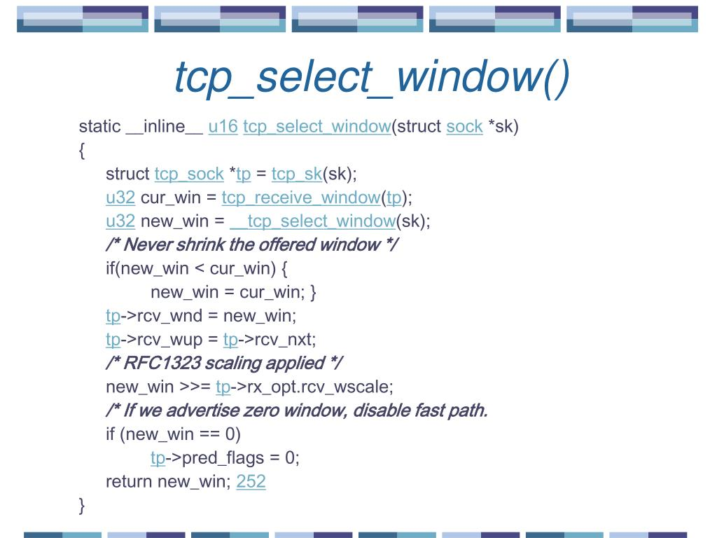 PPT - CS 498 Lecture 18 TCP Implementation in Linux PowerPoint