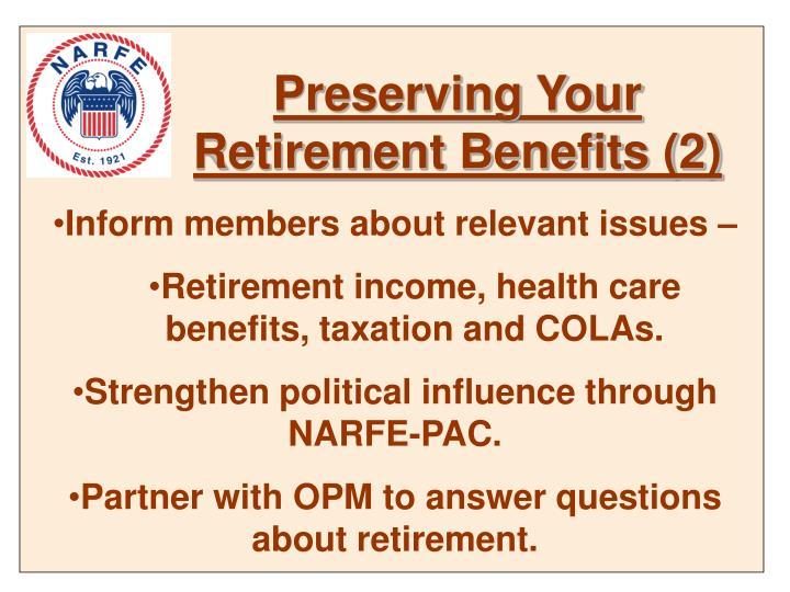 Preserving Your Retirement Benefits (2)