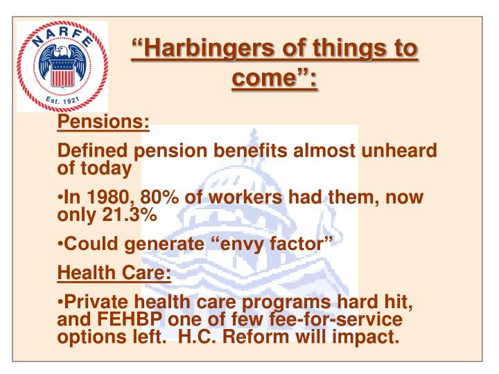 """""""Harbingers of things to come"""":"""