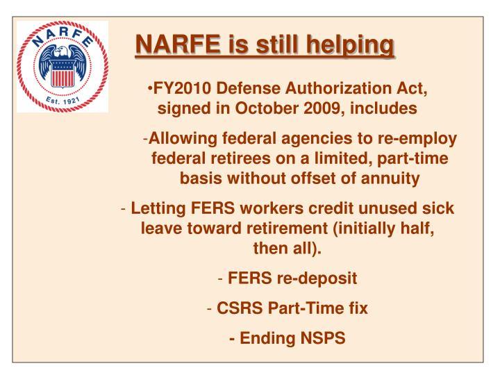 NARFE is still helping