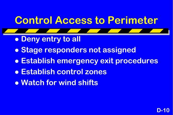 Control Access to Perimeter