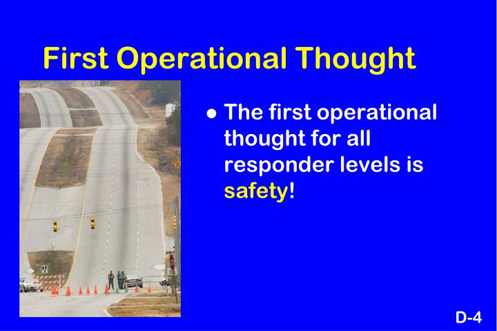 First Operational Thought