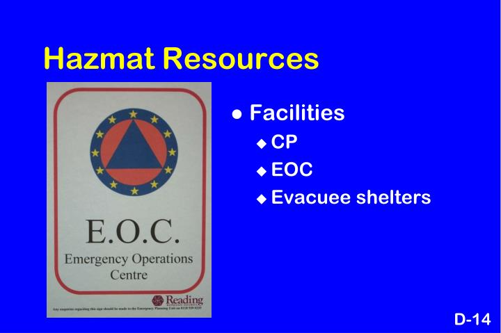 Hazmat Resources