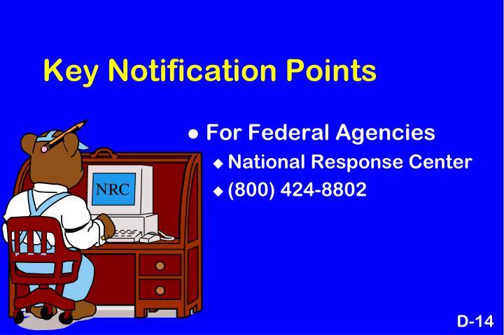 Key Notification Points