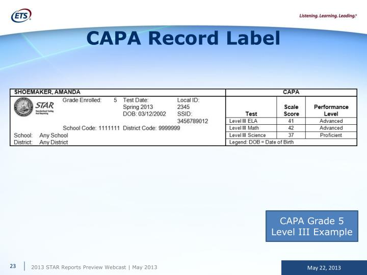 CAPA Record Label
