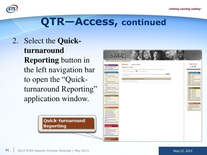 QTR—Access,