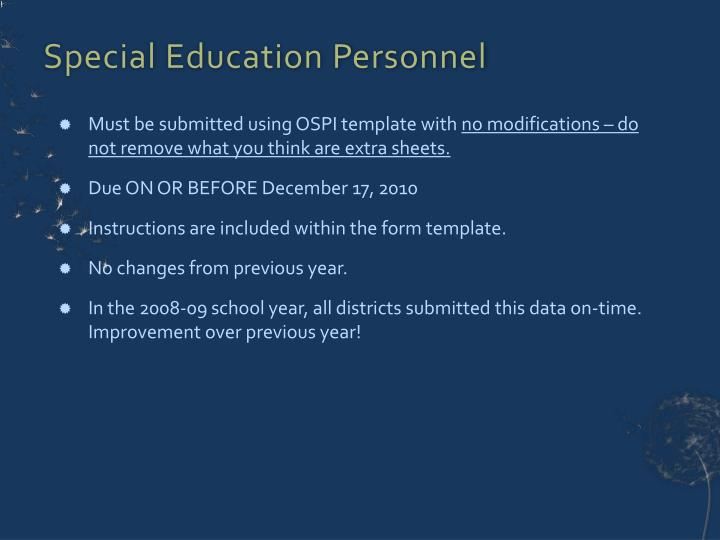 Special Education Personnel