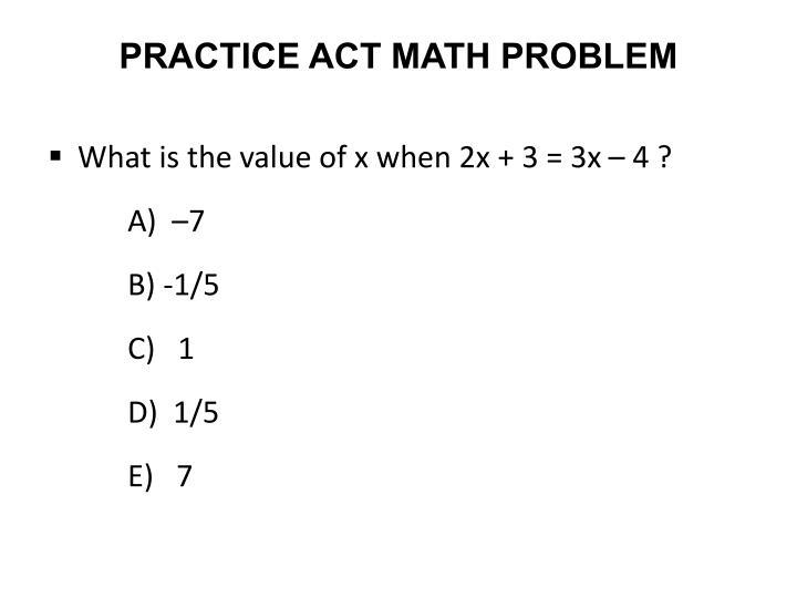 PRACTICE ACT MATH PROBLEM