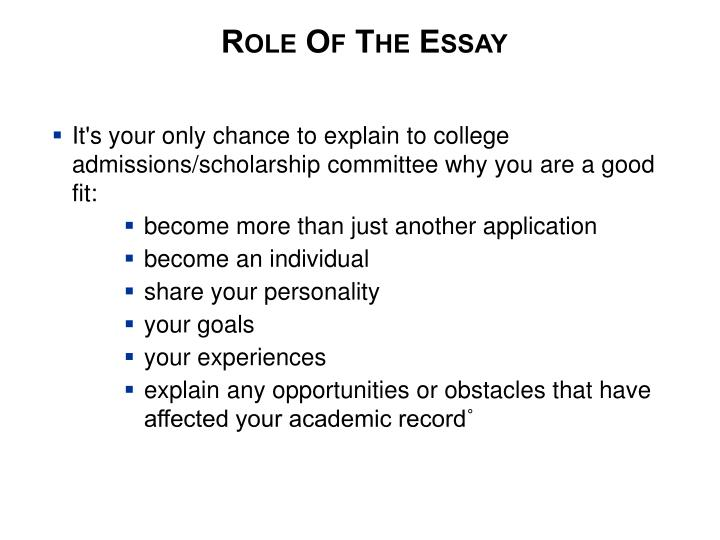 Role Of The Essay