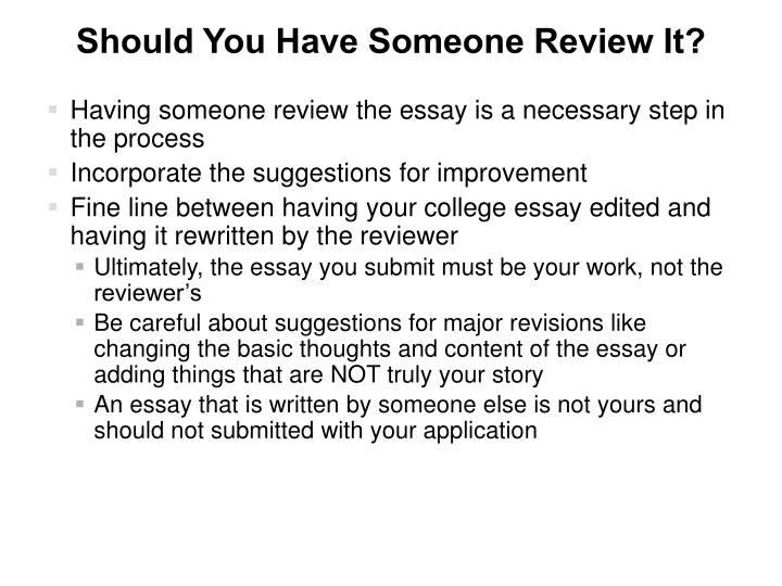 Should You Have Someone Review It?