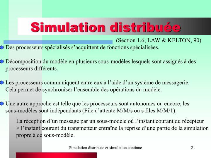 Simulation distribu e