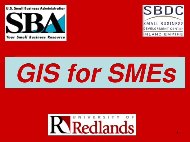 gis for smes n.