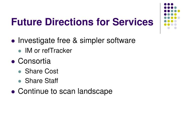 Future Directions for Services