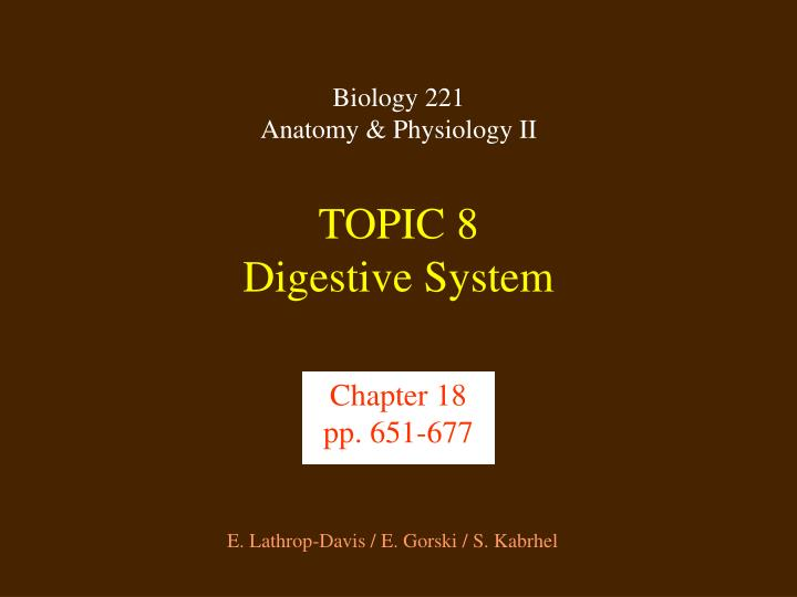 topic 8 digestive system n.