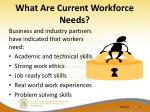 what are current workforce needs