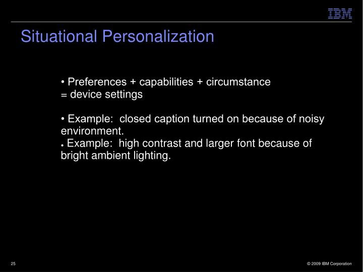Situational Personalization