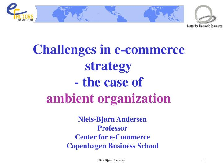 Challenges in e-commerce