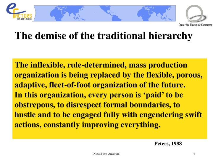 The demise of the traditional hierarchy
