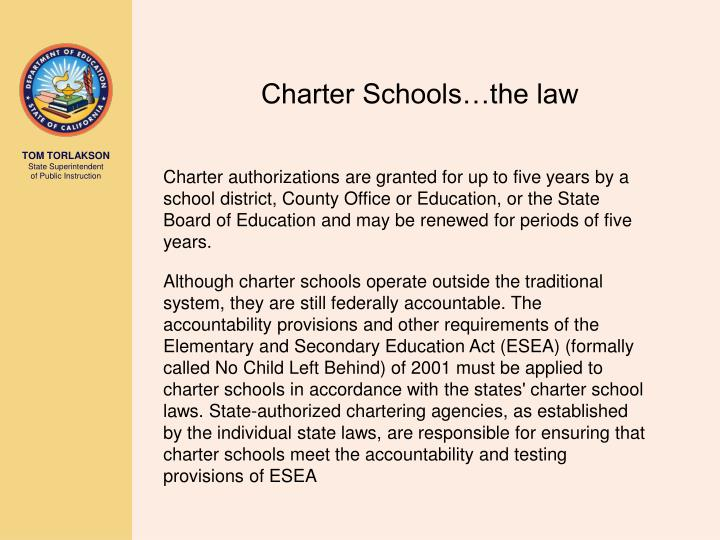 Charter Schools…the law
