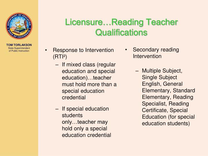 Secondary reading Intervention