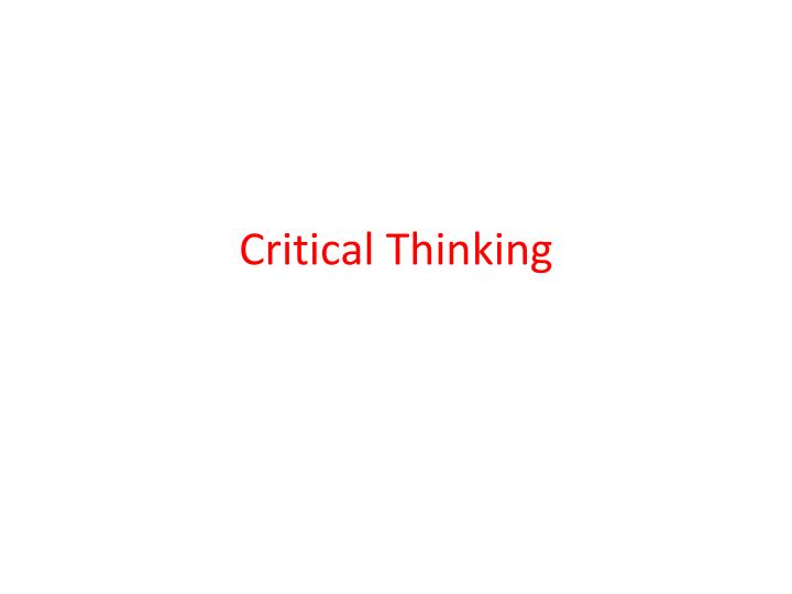 logic and critical thinking midterm As we go further into the next generation of kids, we're seeing less and less of them enabled with the ever important skills of logic and critical thinking.