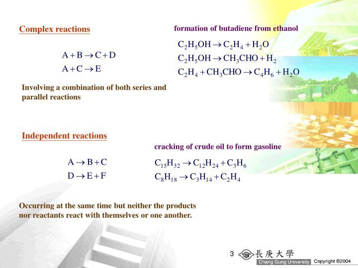 Complex reactions