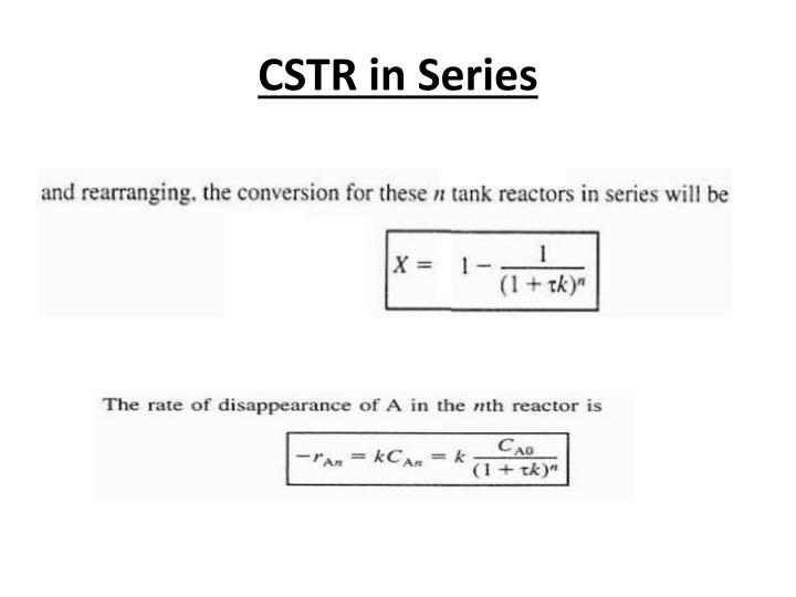 CSTR in Series