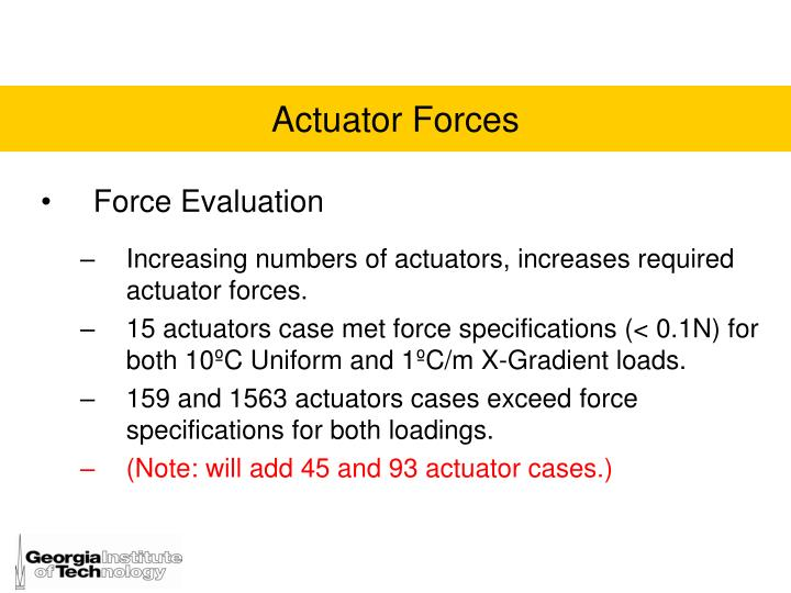 Force Evaluation