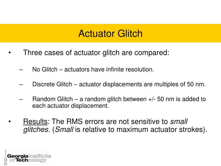 Actuator Glitch