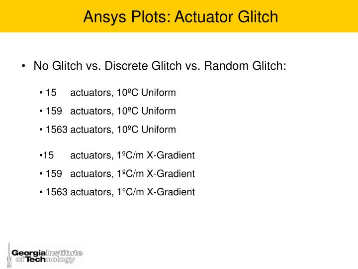 Ansys Plots: Actuator Glitch