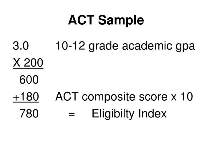ACT Sample