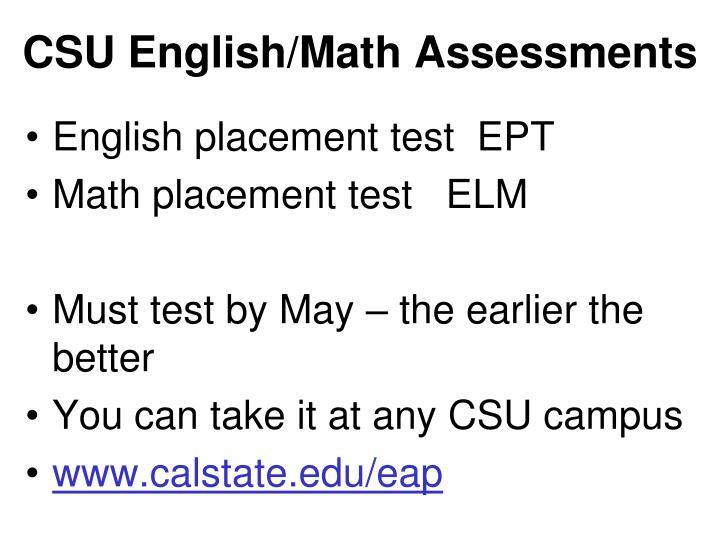 CSU English/Math Assessments