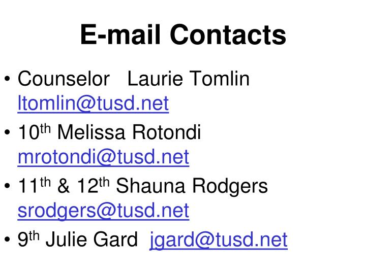E-mail Contacts