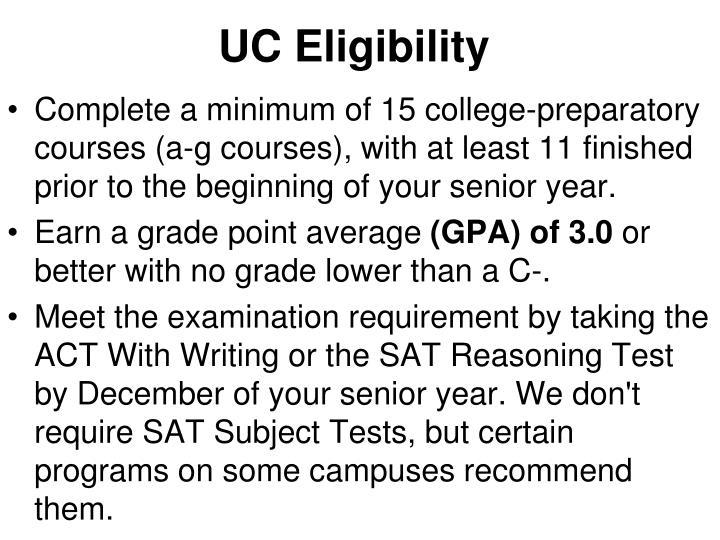 UC Eligibility
