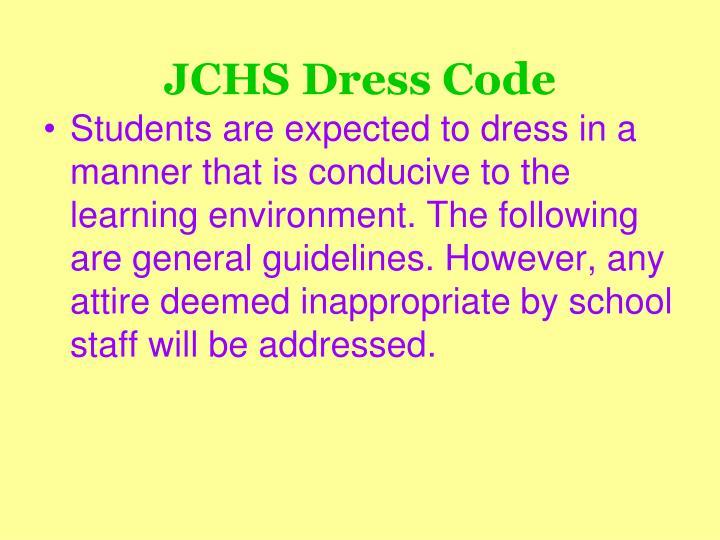 JCHS Dress Code