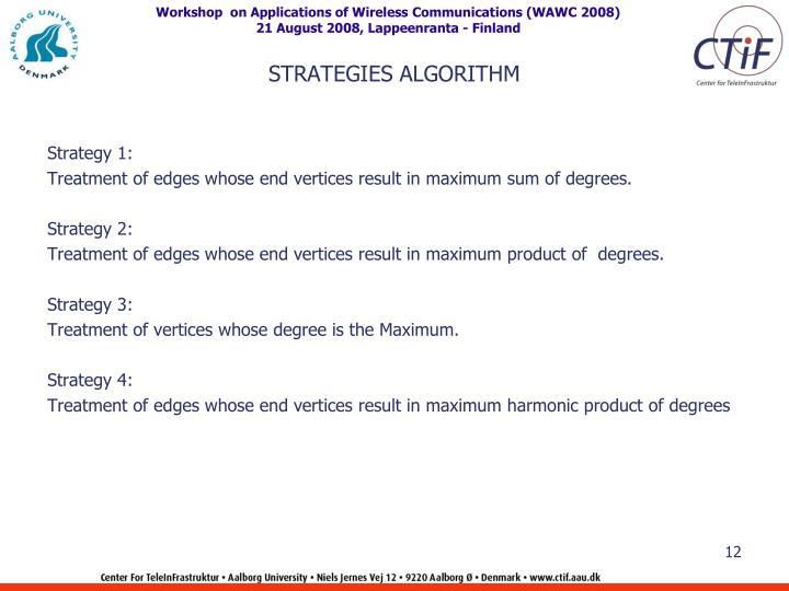 STRATEGIES ALGORITHM