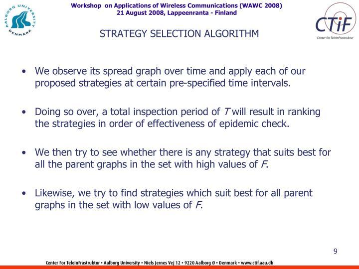 STRATEGY SELECTION ALGORITHM