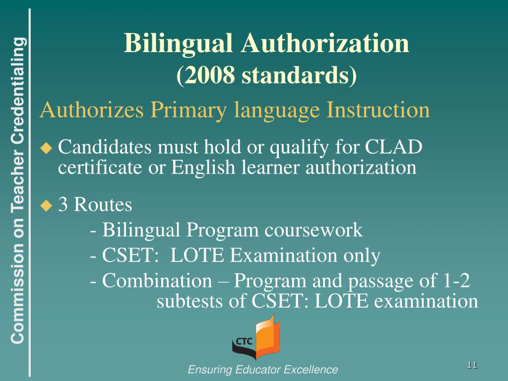 PPT - English Learner Authorizations PowerPoint Presentation