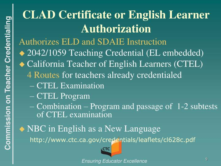 Ppt English Learner Authorizations Powerpoint Presentation Id