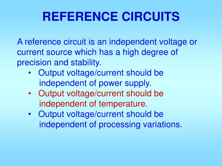 reference circuits n.