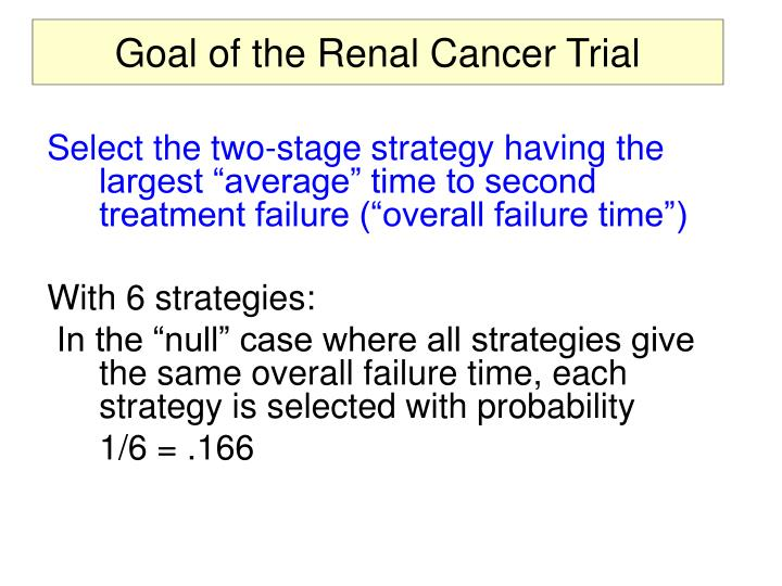 Goal of the Renal Cancer Trial