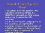 dissent of state supreme court