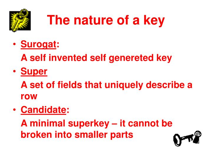 The nature of a key