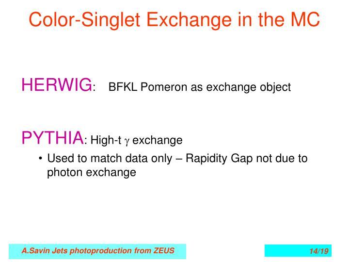 Color-Singlet Exchange in the MC