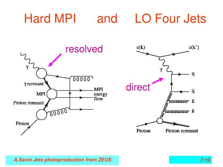 Hard MPI      and     LO Four Jets