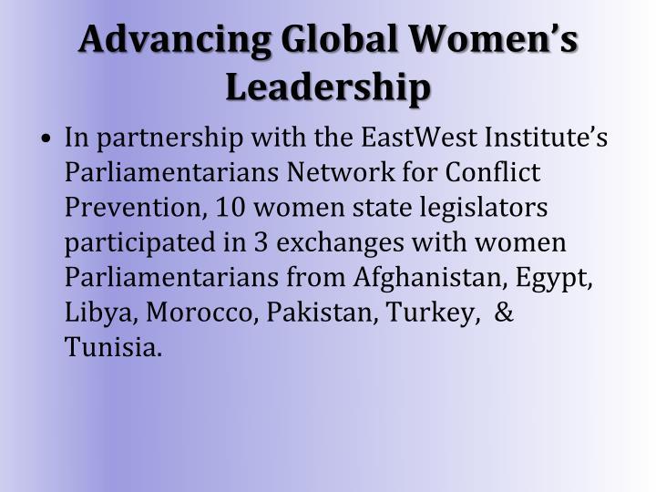 Advancing Global Women's Leadership
