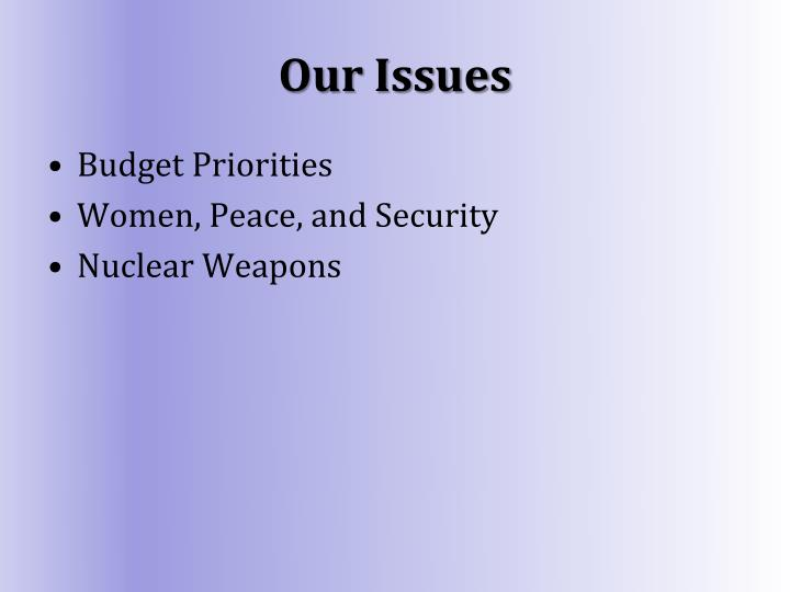 Our Issues